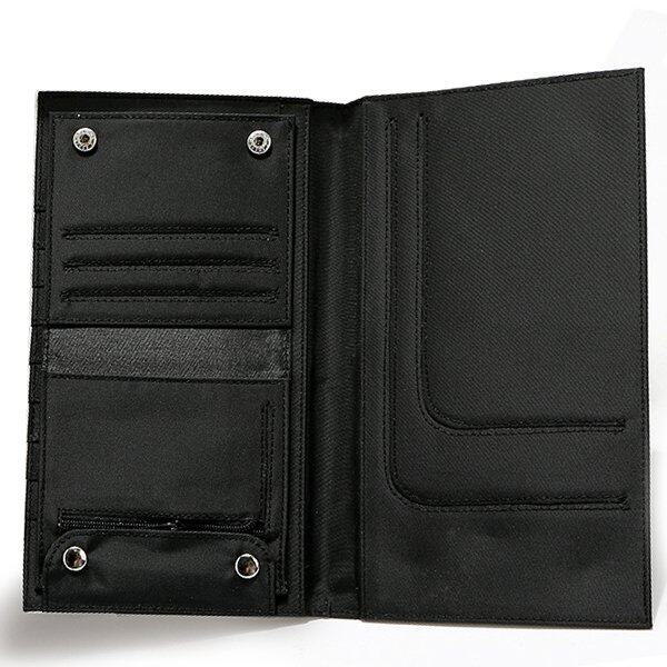 Multiple Function Passport 2 in 1 Long Width Wallet Black 1