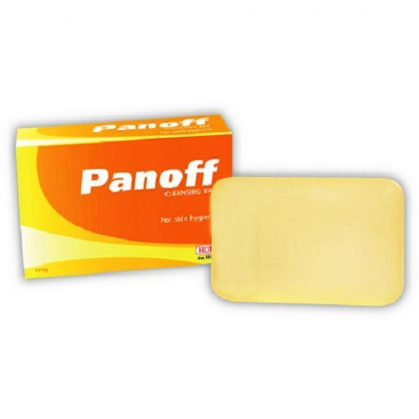 Panoff cleansing sulfur soap bar for fungal skin daily use (100g)
