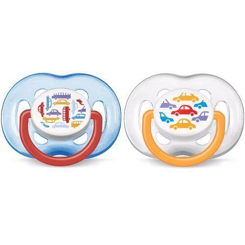 Philips Avent Fashion Soothers 6-18 Months (Blue) BPA-Free - Twin Pack