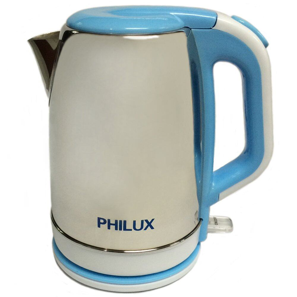 Philux PH-109 Stainless Steel Electric Jug Kettle 1.8L (Blue)