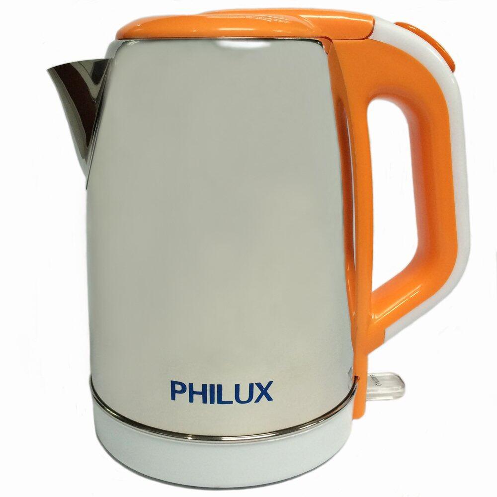 Philux PH-109 Stainless Steel Electric Jug Kettle 1.8L (Orange)