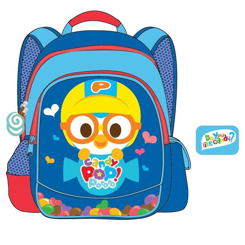 Pororo Backpack School Bag 14 Inches - Blue Colour