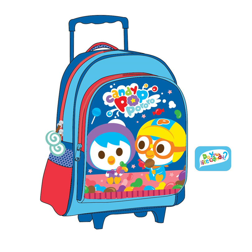 Pororo School Trolley Bag 14 Inches - Blue Colour