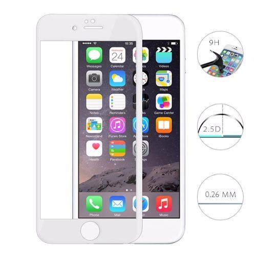 PREMIE Apple Iphone 7 Plus 3D Curved Full Screen Cover Tempered Glass Screen Protector (White)