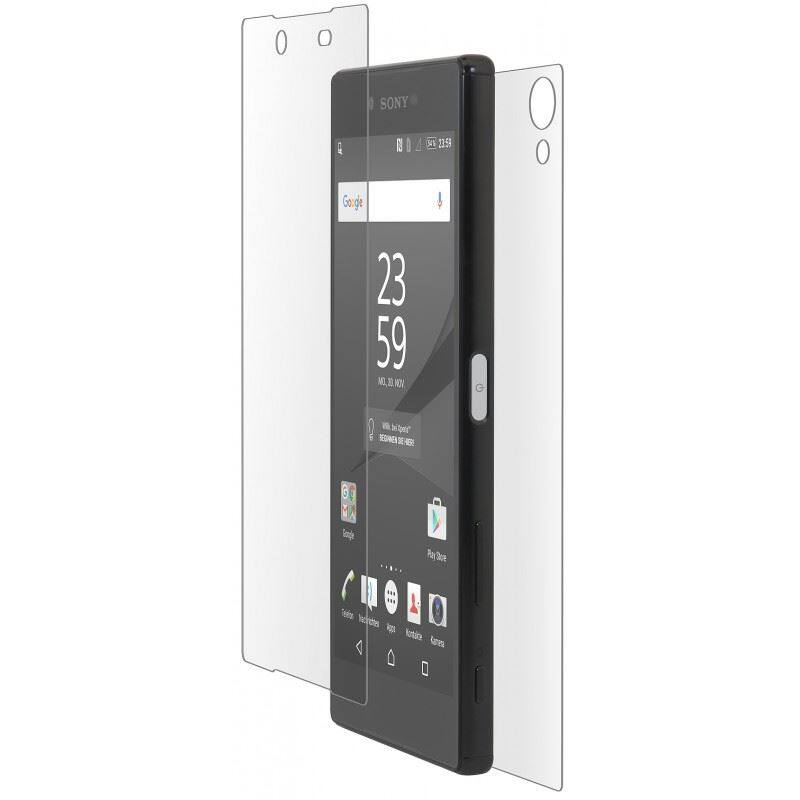 PREMIE Sony Xperia Z5 Premium Tempered Glass Screen Protector Front And Back