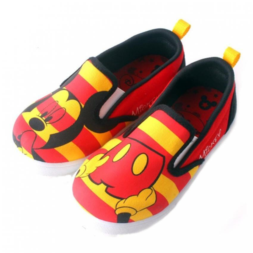 Disney Mickey Canvas Shoes 5yrs to 10yrs - Red Colour