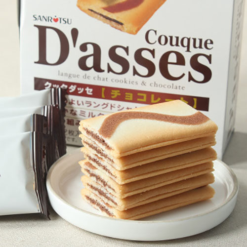 Japan Sanritsu Conque Dasses Biscuit Black Chocolate 90g 12pcs