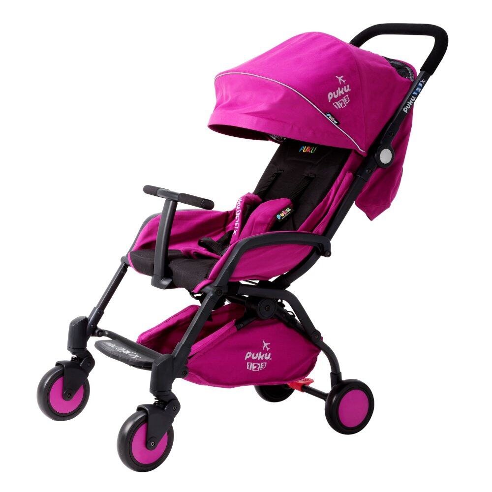 PUKU 123 Compact Easy Stroller For Newborn up to 15kg / 36 months - Purple + Stroller Bag