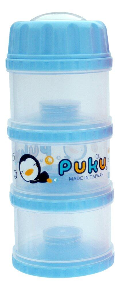 PUKU 3 Layers Independet Milk Powder Dispenser Formula Baby Infant Container Portable Box Case 100ml Blue