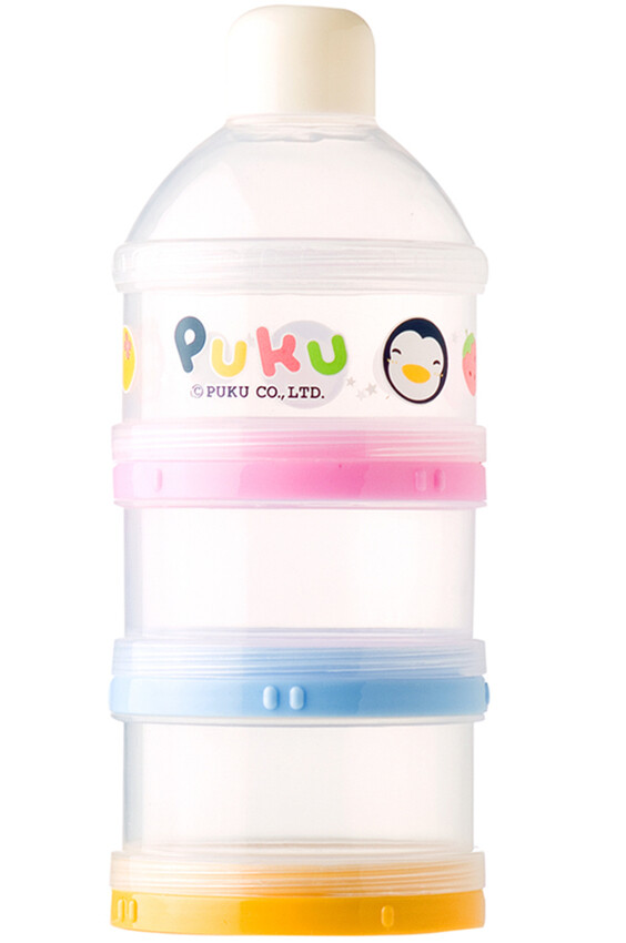 PUKU  3 Layers  Milk Powder Dispenser Formula Baby Infant Container Portable Box Case 100ml