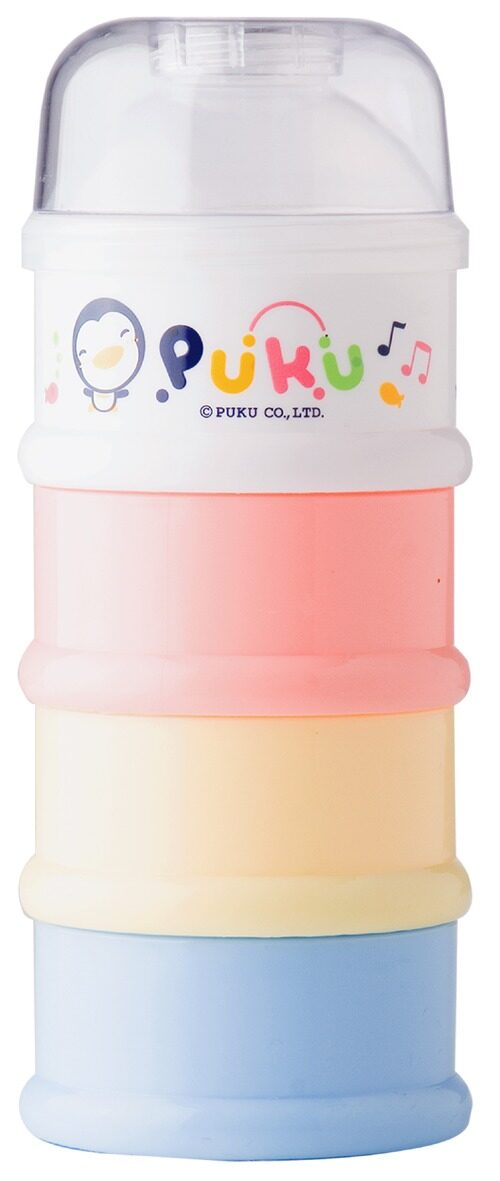 Puku 4 Layers  Milk Powder Dispenser Formula Baby Infant Container Portable Box Case 100ml