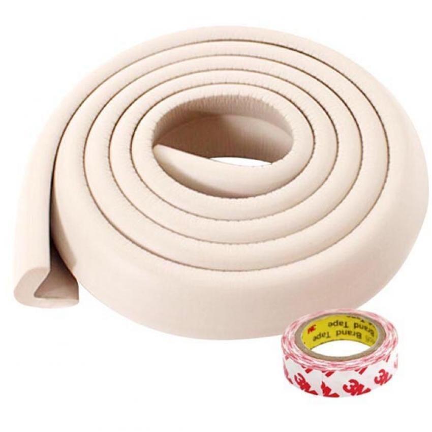 PUKU L Shape Childproofing Desk Edge Corner Guard Cushion- Child Home Safety Furniture/Table Edge Corner Protectors Creamy White