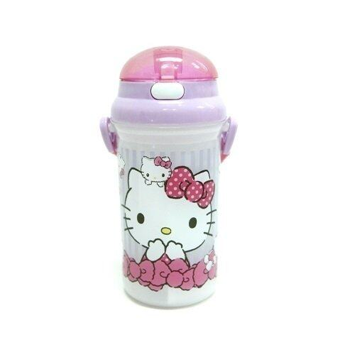 Sanrio Hello Kitty 500ML Water Bottle - Pink And Purple Colour