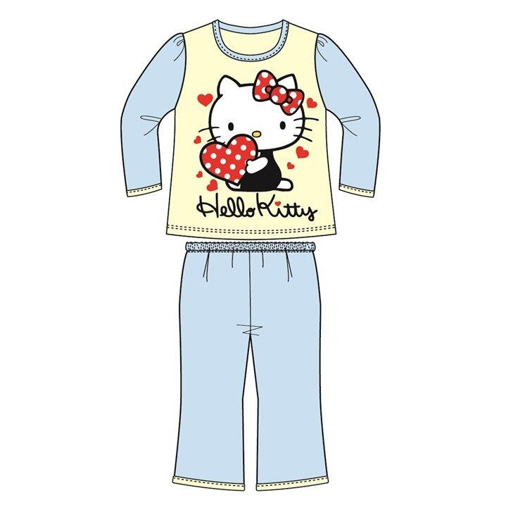 Sanrio Hello Kitty Casual Homewear 100% Cotton 4yrs to 10yrs - Blue Colour
