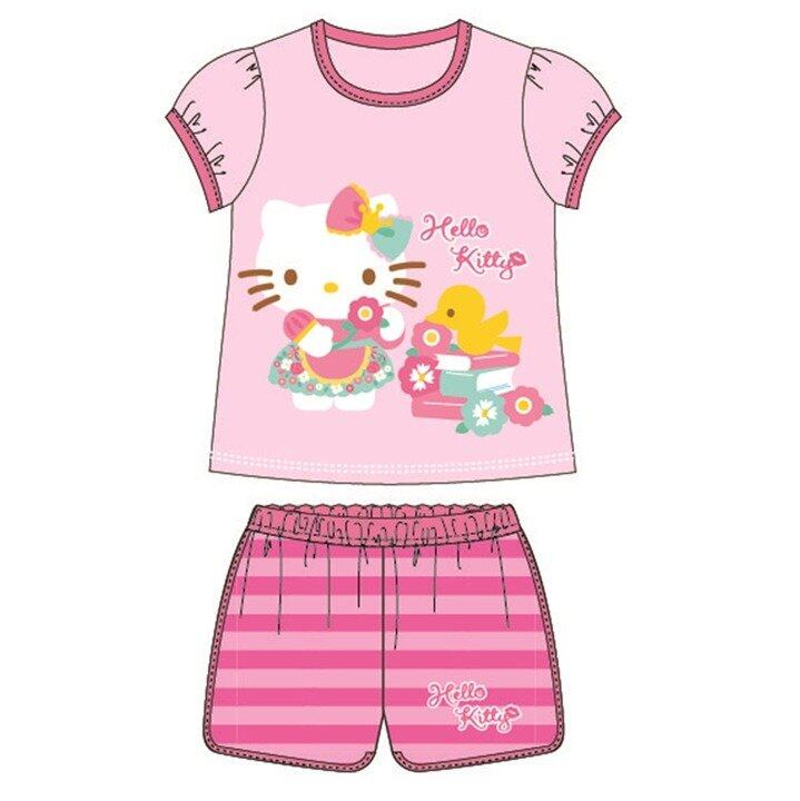Sanrio Hello Kitty Casual Short Sleeve 95% Cotton 4yrs to 10yrs - Pink Colour