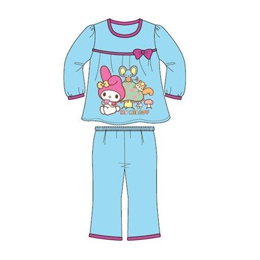 Sanrio Hello Kitty Melody Homewear 100% Cotton 4yrs to 12yrs - Light Blue Colour