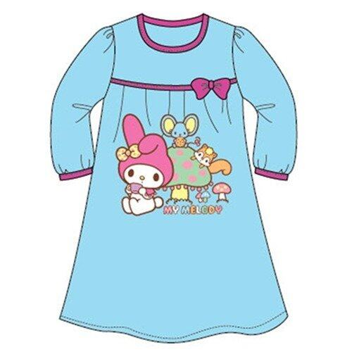 Sanrio Hello Kitty Melody Homewear Dress 100% Cotton 4yrs to 12yrs - Light Blue Colour