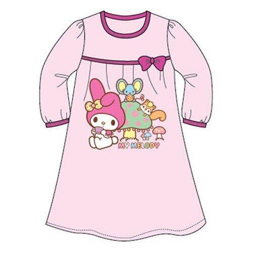 Sanrio Hello Kitty Melody Homewear Dress 100% Cotton 4yrs to 12yrs - Light Pink Colour