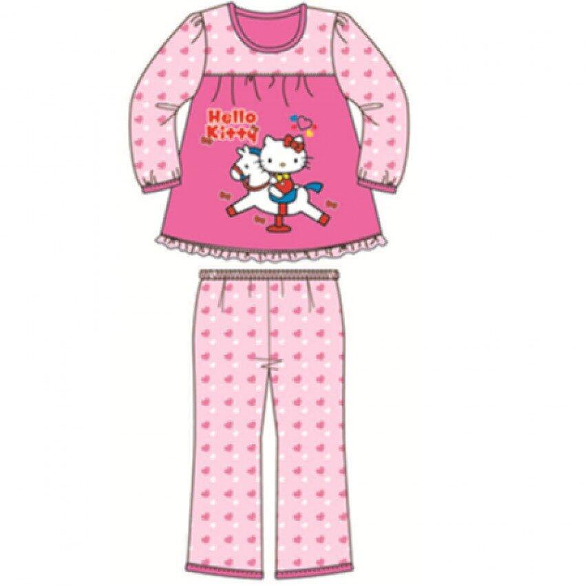 Sanrio Hello Kitty Pyjamas 100% Cotton 4yrs to 12yrs - Dark Pink Colour