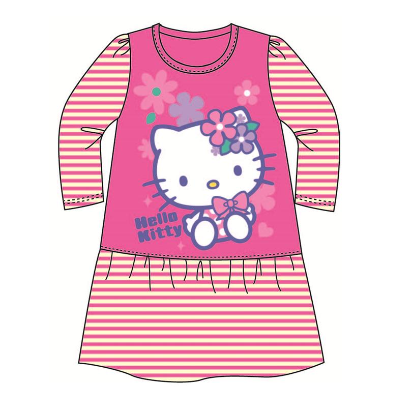 Sanrio Hello Kitty Pyjamas Dress 100% Cotton 4yrs - 6yrs - Dark Pink Colour