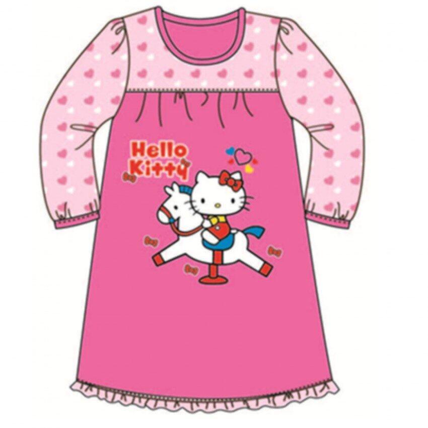 Sanrio Hello Kitty Sleepdress 100% Cotton 4yrs to 12yrs - Dark Pink Colour