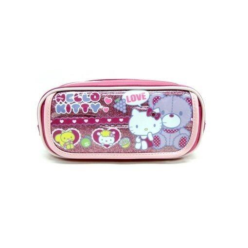 Sanrio Hello Kitty Square Pencil Bag - Light Pink Colour
