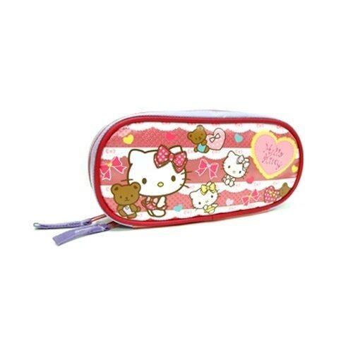 Sanrio Hello Kitty Square Pencil Bag - Red And Blue Colour