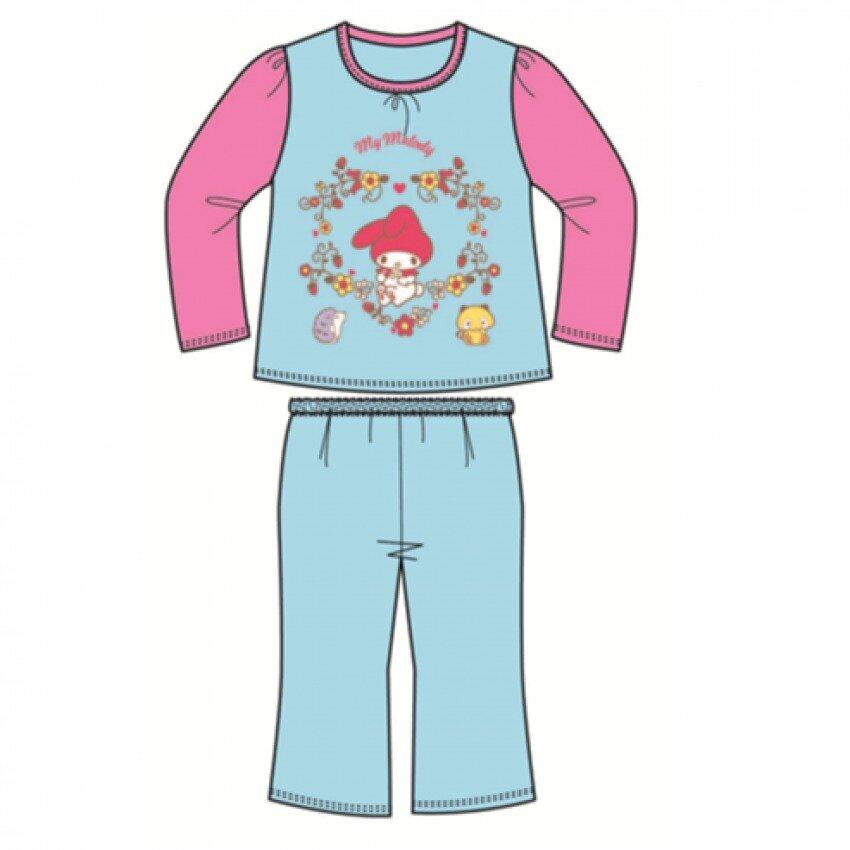Sanrio My Melody Pyjamas 100% Cotton 4yrs to 12yrs - Blue And Pink Colour