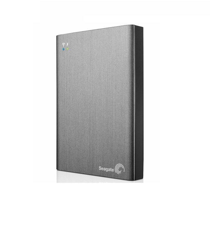 Seagate Wireless Plus 2TB Portable External Hard Drive Black