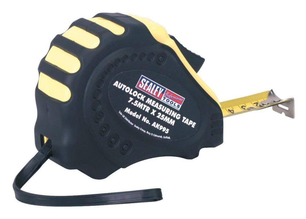 Sealey Autolock Measuring Tape 7.5mtr(25ft) x 25mm Metric/Imperial