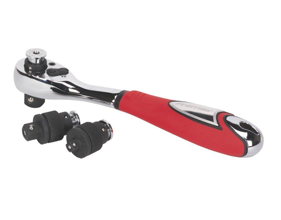 (Clearance) Sealey Ratchet Wrench Interchangeable Drive 3-in-1 [Showroom Unit]