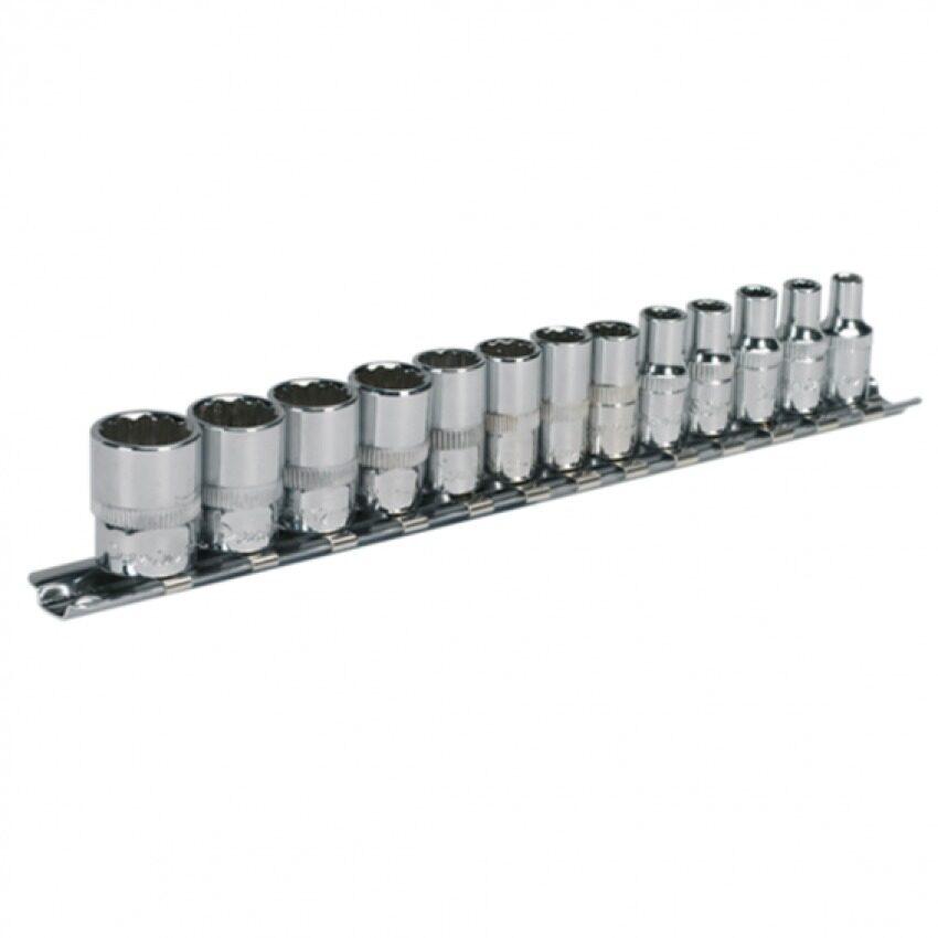 "Sealey Socket Set 13pc 1/4""Sq Drive 12pt WallDrive® Metric"