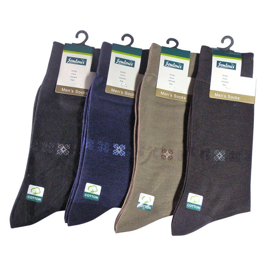 Semlouis Classic Quater Crew Socks Set of 4 (Multicolor)