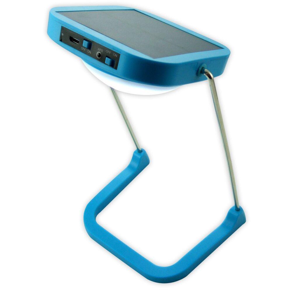 Solar LED Table Lamp with Radio FM / 10 LEDs / 1500mAH Lithium Battery (Blue)