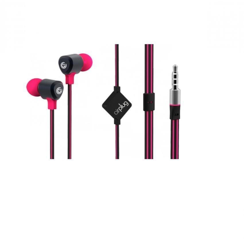Sonic Gear Airplug 100 Earphone with Mic (Magenta Pink)