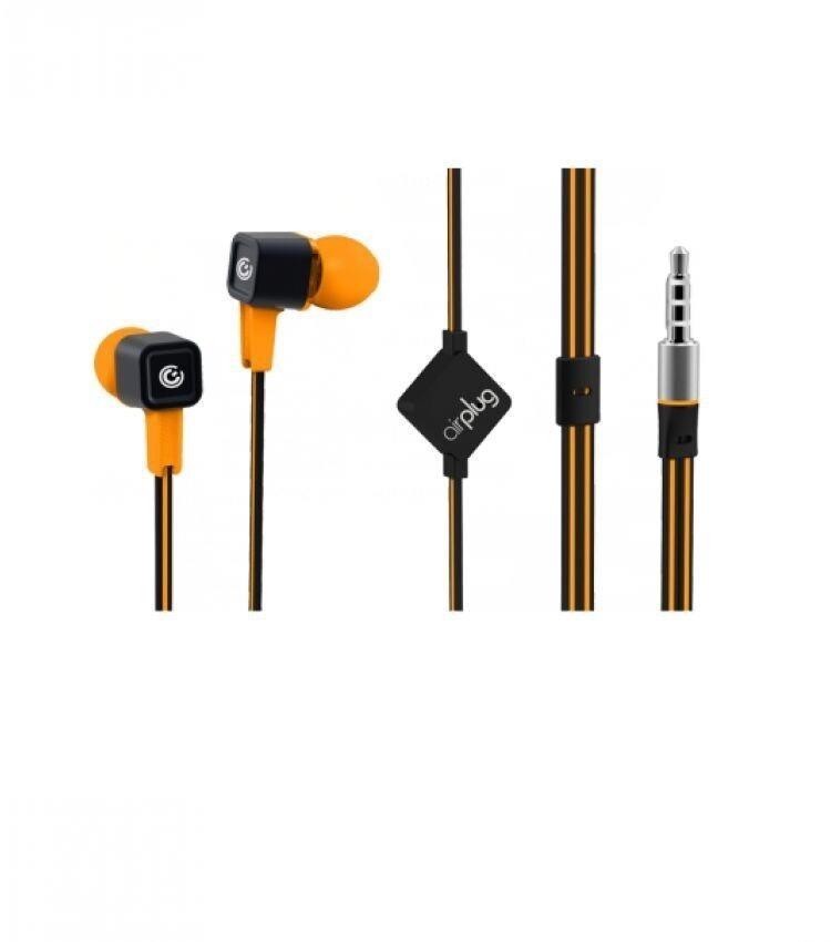Sonic Gear Airplug 200 Earphone With Mic Sunny Orange