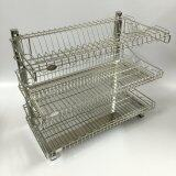 Stainless Steel 304 (18-8) D.I.Y. Three Tier Dish Rack (550mm)