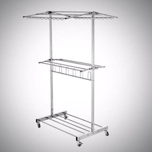Stainless Steel 304 (18-8) Fold-able Chothes Hanger 3ft