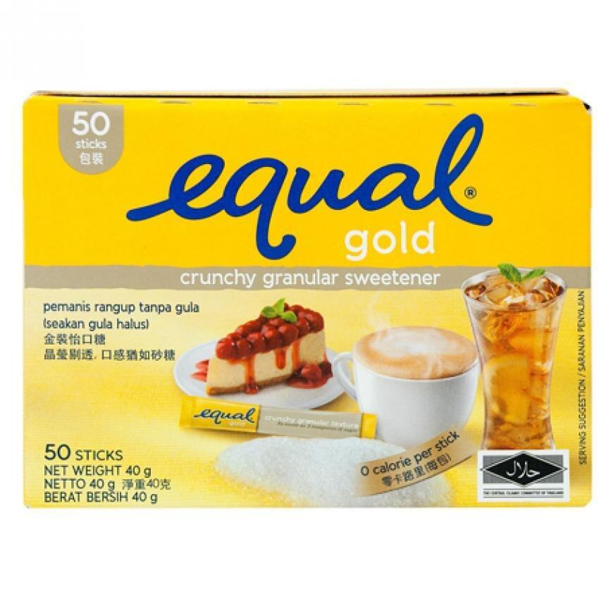 SWEETENER ZERO CALORIES EQUAL GOLD 50's/ Box (Suitable for Diabetic)