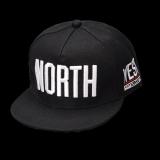 TEEMI Snapback Hip Hop Hats Adjustable Baseball Cap NORTH - Black