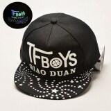 TEEMI Snapback Hip Hop Hats Adjustable Baseball Cap TFBOYS - Black Glow in Dark