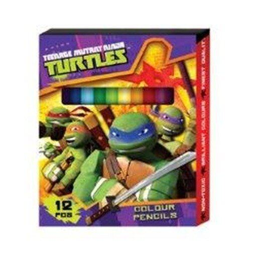 Teenage Mutant Ninja Turtles 12PCS Short Colour Pencil - Purple Colour