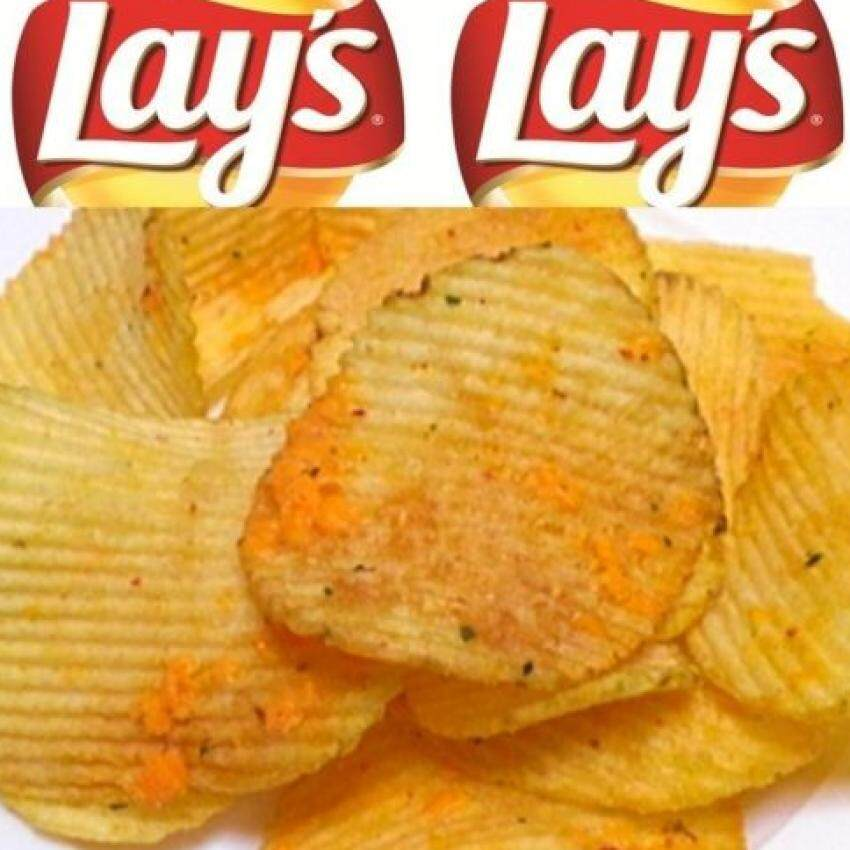THAILAND LAY EXTRA BBQ POTATO CHIPS SNACK 52g (2PACK)
