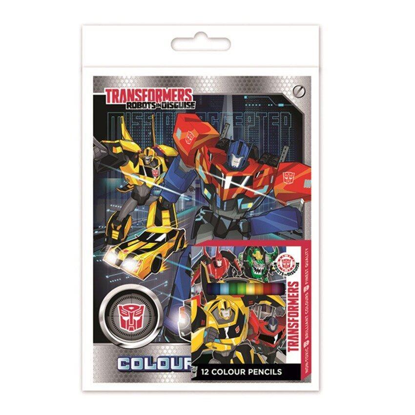Transformers Colouring Book Set - Multicolour