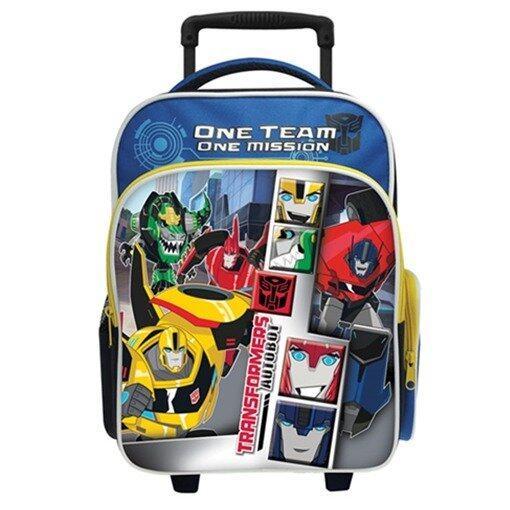 Transformers Pre School Trolley Bag - Blue Colour