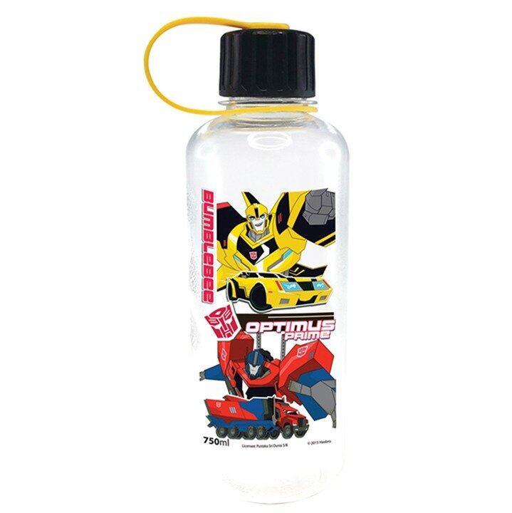 Transformers Robots In Disguise 750ML Polycarbonate Bottle - Black Colour