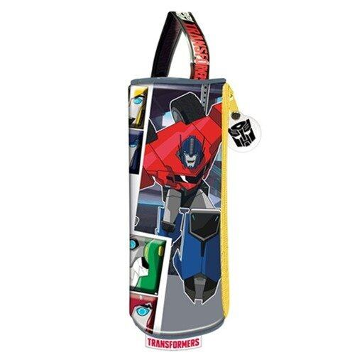 Transformers Round Pencil Bag Set - Black And Yellow