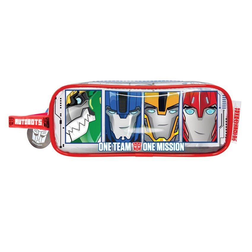 Transformers Square Pencil Bag Set - Red Colour