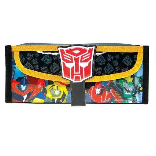 Transformers Square Pencil Bag With Pocket - Black Colour