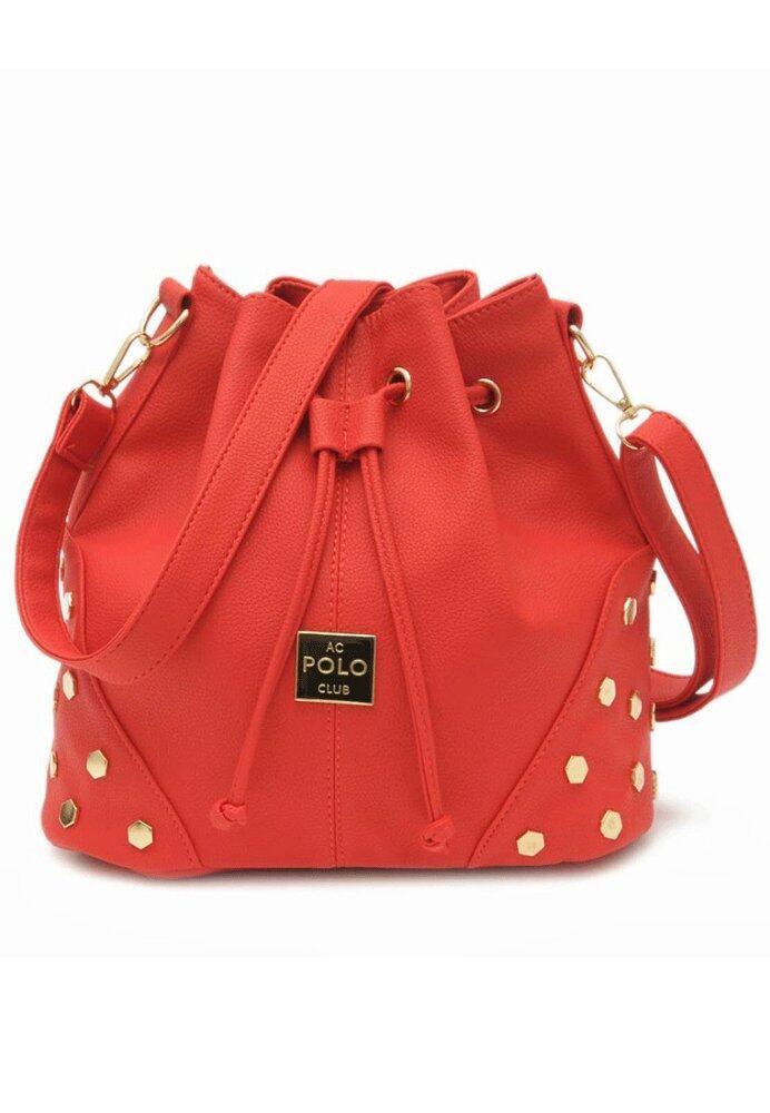 Trendy Top Rivet Sling Bag